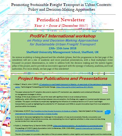 ProSFeT Newsletter Year 1 Issue 2
